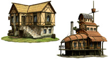 Fantasy Tavern Buildings