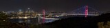 Bosphorus Bridge Panorama eleven vertical photographs made panorama. Istanbul Turkey.