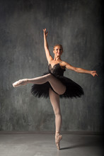 A Young Beautiful Ballerina In...