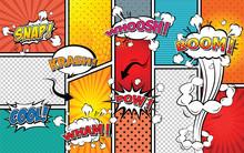 Comic Sound Effect Speech Bubb...