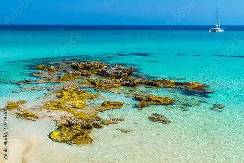 Spoed Foto op Canvas Oceanië Baia dei Turchi, Otranto town, Puglia region, Italy