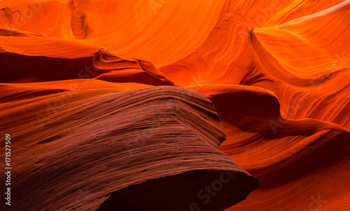 Tuinposter Canyon Beautiful abstract red sandstone formations in the Antelope Canyon, Arizona