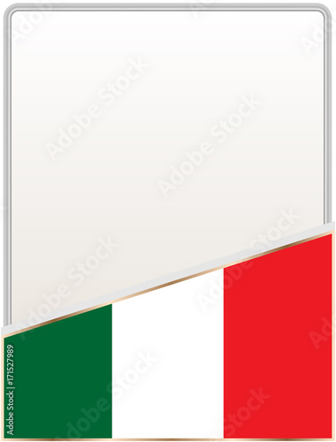 Italian flag frame with empty white space for your text - Buy this ...