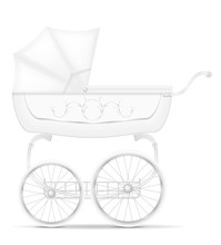 Retro Baby Carriage Stock Vect...
