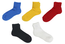 Blank Socks Color Set On White...