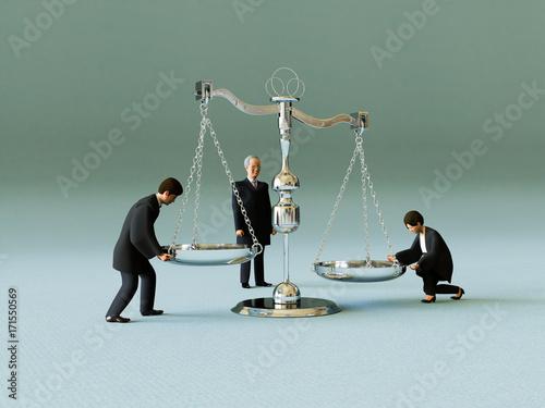 Fotografering 裁判官と天秤
