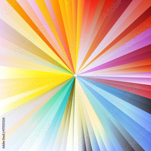 Rainbow Sunburst © VectorShots