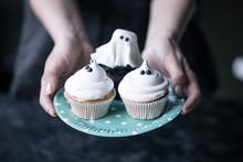 Halloween Cupcakes On Plate