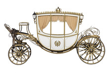 Vintage Carriage Isolated On W...