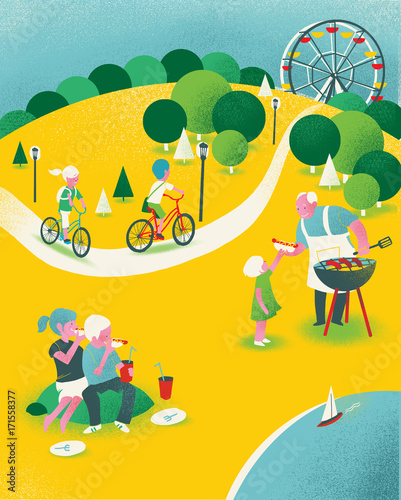 Picnic With Kids Outdoors