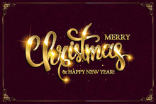 Vector Merry Christmas Text Wi...