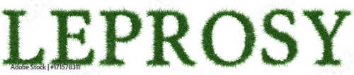 Leprosy - 3D rendering fresh Grass letters isolated on whhite background Wallpaper Mural