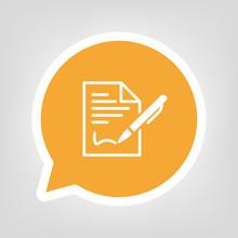 Gelbe Sprechblase - Vertrag