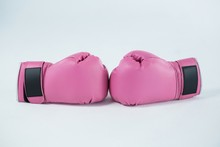 Close-up Pair Of Pink Boxing G...
