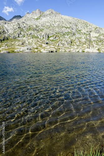 Staande foto Oceanië Mountain landscape of Gotthard pass