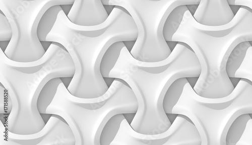 Fotografie, Obraz White abstract geometric pattern