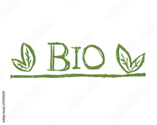 Photo logo bio hand sketch vector