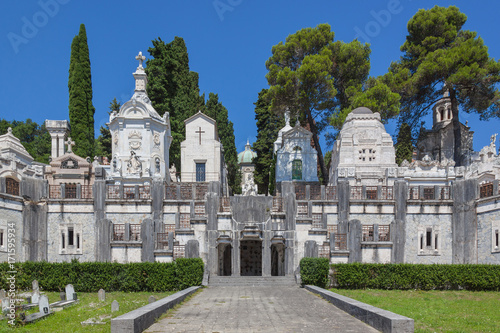 Foto op Canvas Begraafplaats Ancient monumental cemetery of Chiavari, Italy