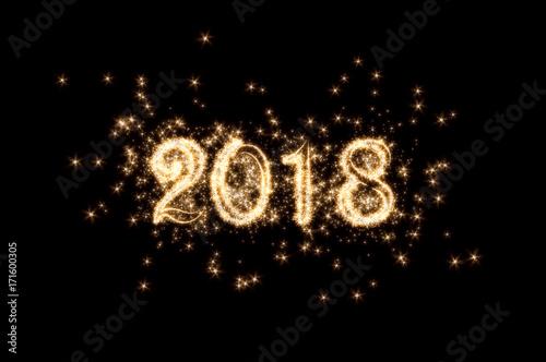 Silvester, Neujahr, Feuerwerk, 2018 Poster