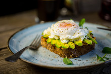 Black Bread Toast With Fried B...