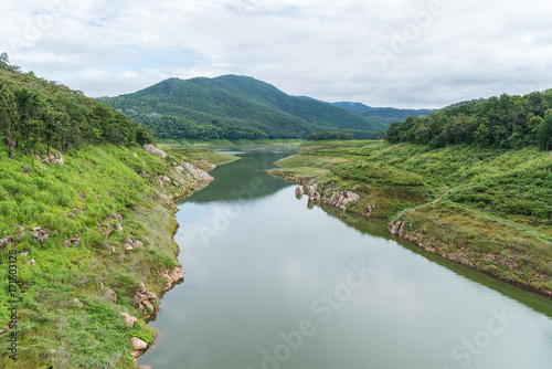 Natural watershed in Mae Guang dam reservoir of Doi Saket, Chiang Mai, Thailand