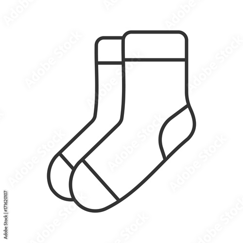 Fotografie, Obraz  Warm socks linear icon