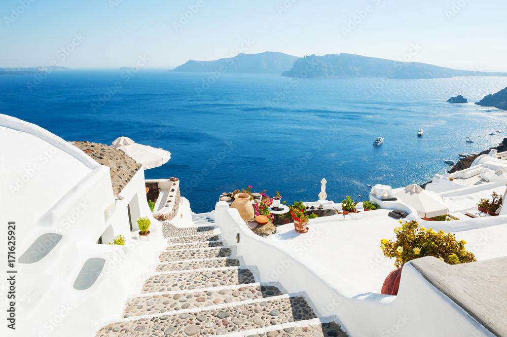 Fototapety, obrazy: White architecture on Santorini island, Greece