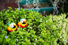 Bird Statues In Garden