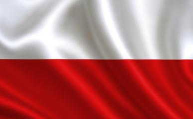 Polish flag. Poland flag. Flag of Poland. Poland flag illustration. Official colors and proportion correctly. Polish background. Polish banner. Symbol, icon.