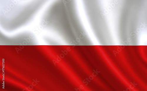 Fototapeta Polish flag. Poland flag. Flag of Poland. Poland flag illustration. Official colors and proportion correctly. Polish background. Polish banner. Symbol, icon.   obraz