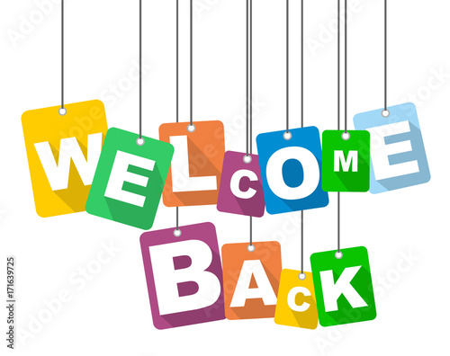Fototapeta  vector illustration background welcome back