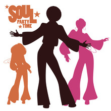 Silhouettes Of Three Dancing S...
