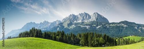 Aluminium Prints Alps Sommer in den österreichischen Bergen - Wilder Kaiser, Tirol, Austria
