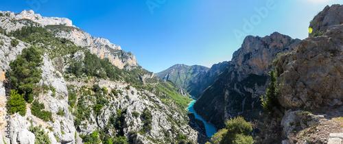 Foto auf AluDibond Schlucht Gorge du Verdon in Provence