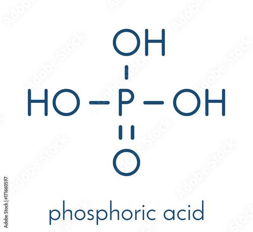 Photo Phosphoric acid mineral acid molecule