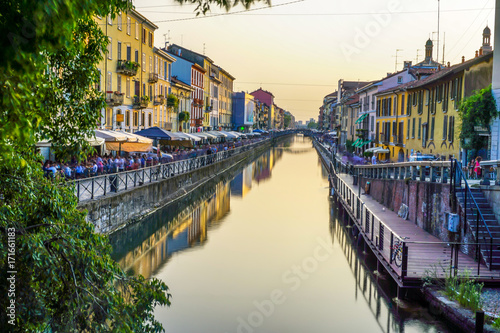 Fotobehang Milan Mailand Navigli, Italien