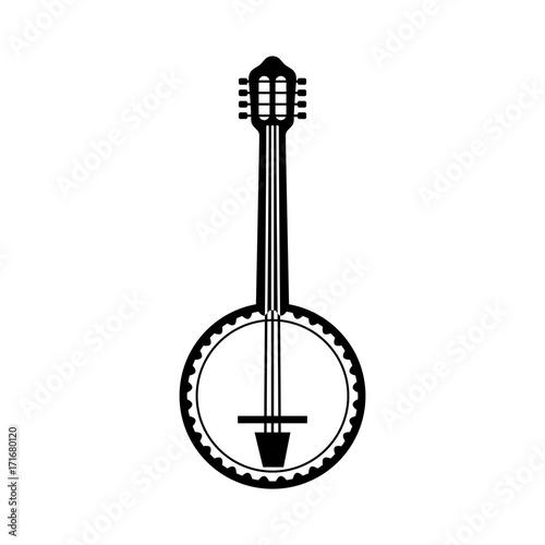 banjo jazz instrument musical festival celebration vector illustration Wallpaper Mural