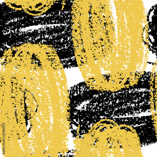 Cotton fabric Abstract giant stroke seamless hand drawn pattern. Modern grunge texture. Colorful wax crayon drawn background.
