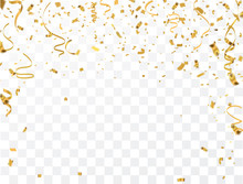 Gold Confetti Celebration