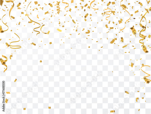 Obraz Gold confetti celebration - fototapety do salonu