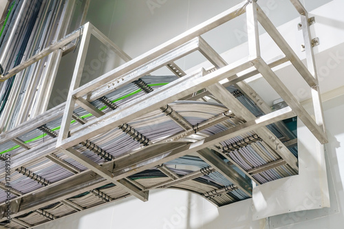 Ladder cable tray at electrical control room