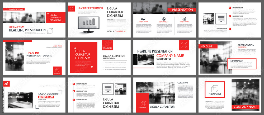 Fototapety, obrazy: Red and white element for slide infographic on background. Presentation template. Use for business annual report, flyer, corporate marketing, leaflet, advertising, brochure, modern style.
