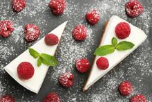 Tasty Raspberry Cheesecake On ...