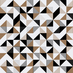Panel Szklany Minimalistyczny A gold and black geometric background.