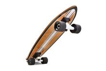 Black And Wooden Skate Board I...