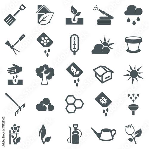 Cuadros en Lienzo Gardening Icons