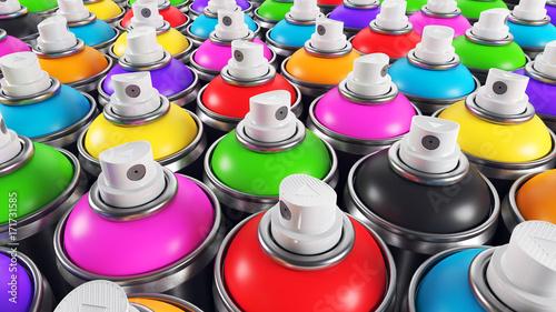Set of color paint cans © Oleksandr Delyk