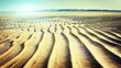 Summer & beach background with sand ripples. Nature background