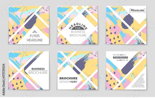 Acrylic Prints Abstract wave Abstract vector layout background set. For art template design, list, front page, mockup brochure theme style, banner, idea, cover, booklet, print, flyer, book, blank, card, ad, sign, sheet,, a4.