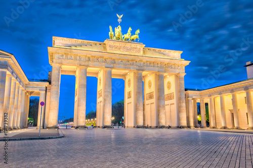 Brandenburger Tor in Berlin, Germany at night Poster